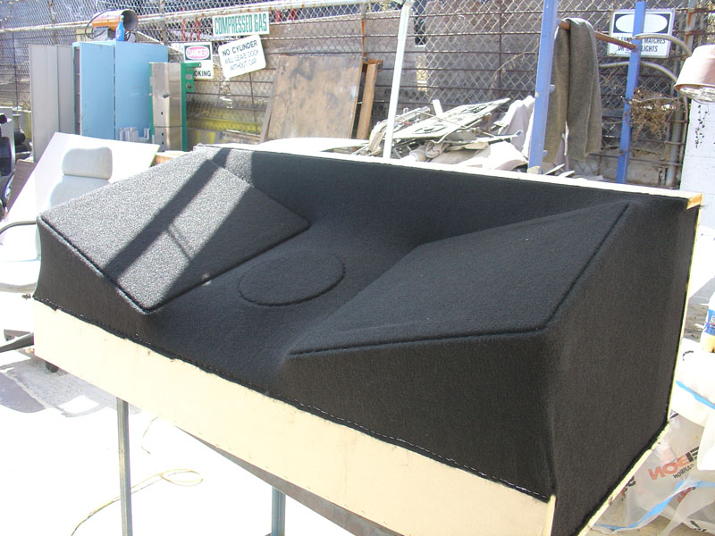 Kicker Box Frame Cover Black