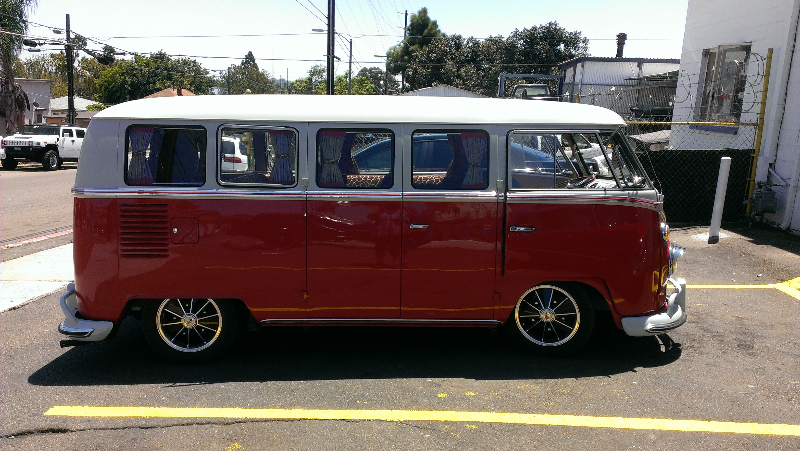 Lowered VW Bus