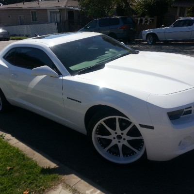 White Chevy Camaro