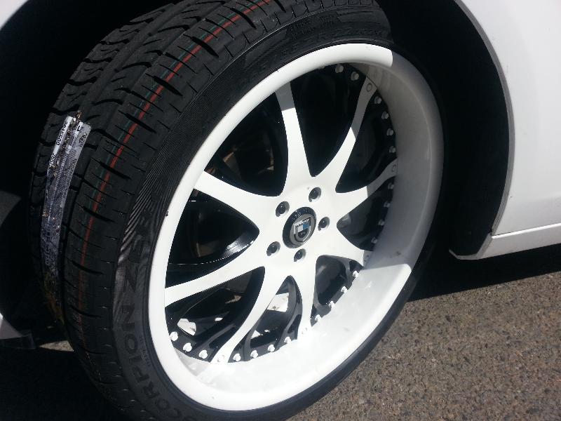 Chevy Camaro White Wheels