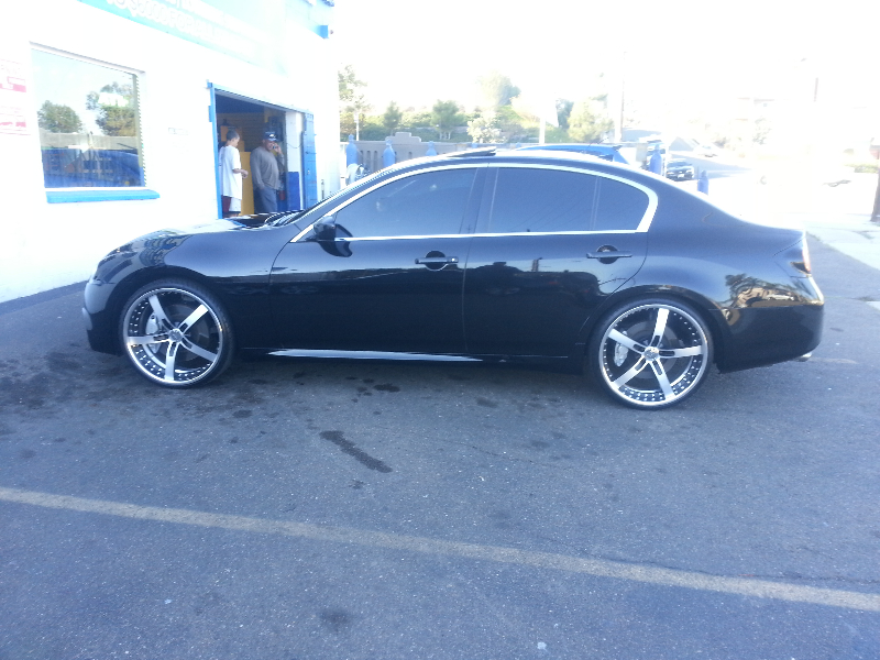 Infinity G37 Side Window Tint