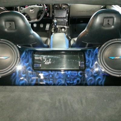 Custom Fiberglass Box in Car