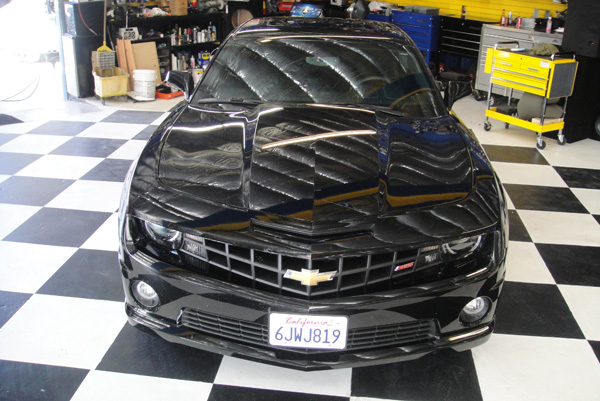 Black Chevy Camaro Front