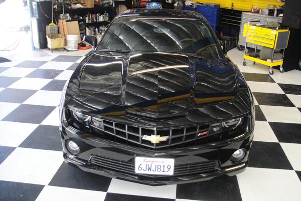 Black Chevy Camaro Front