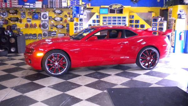 Red Chevy Camaro
