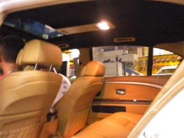 White 7-Series Custom Tan Interior