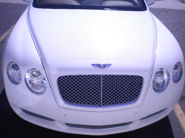 White Bentley Continental Grille