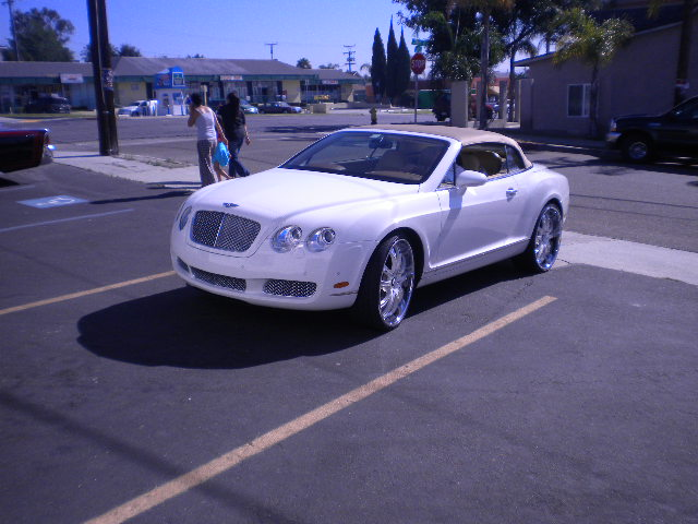 White Bentley Continental
