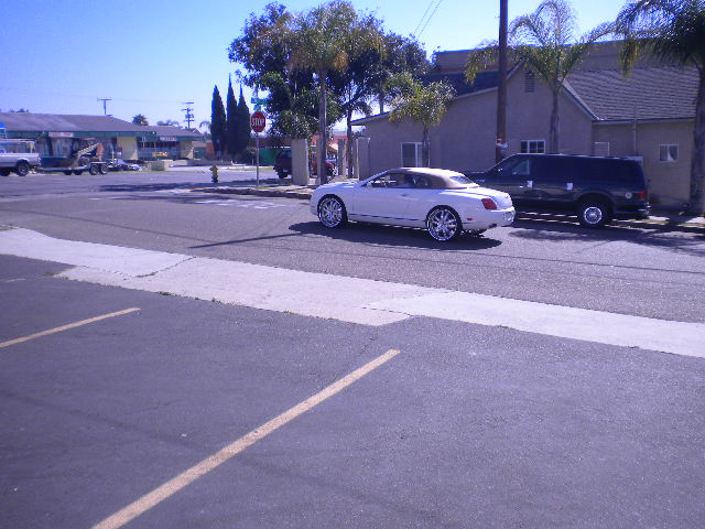 White Bentley Continental Custom Wheels