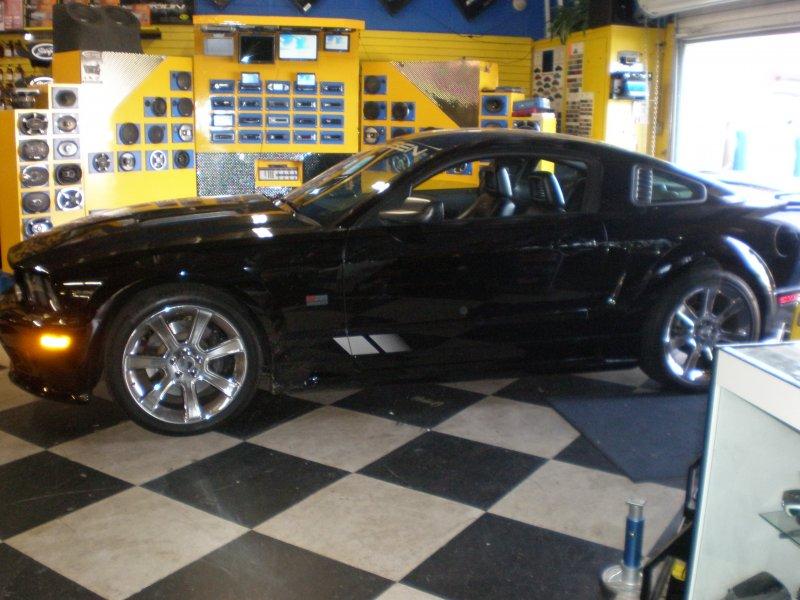 Black Saleen Mustang