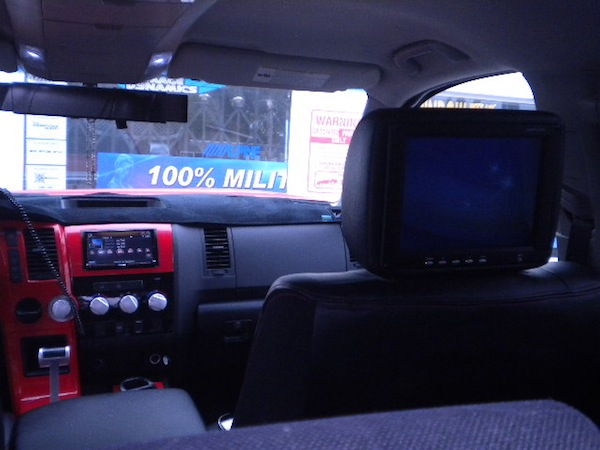 Toyota Tundra view from back seat