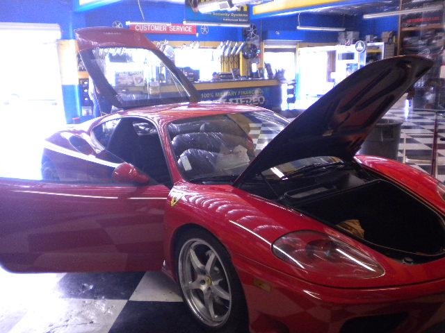 Ferrari F430 Hood Open