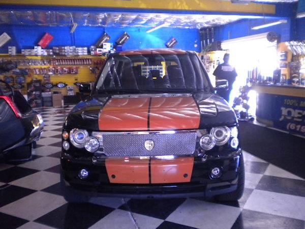 Range Rover Orange Stripes