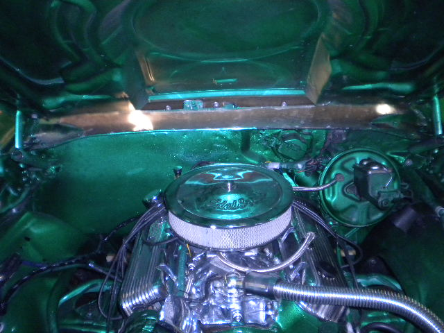 Chevy Chevelle Green Engine
