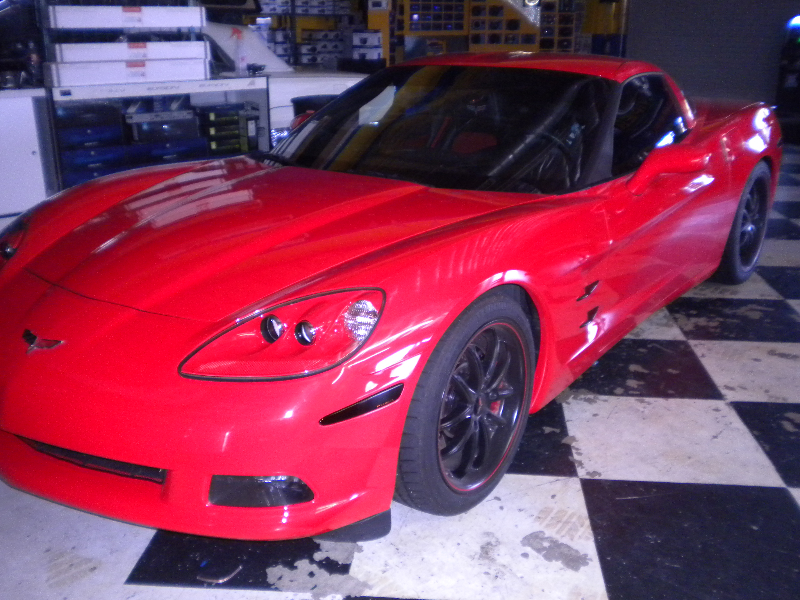 Red Corvette Front