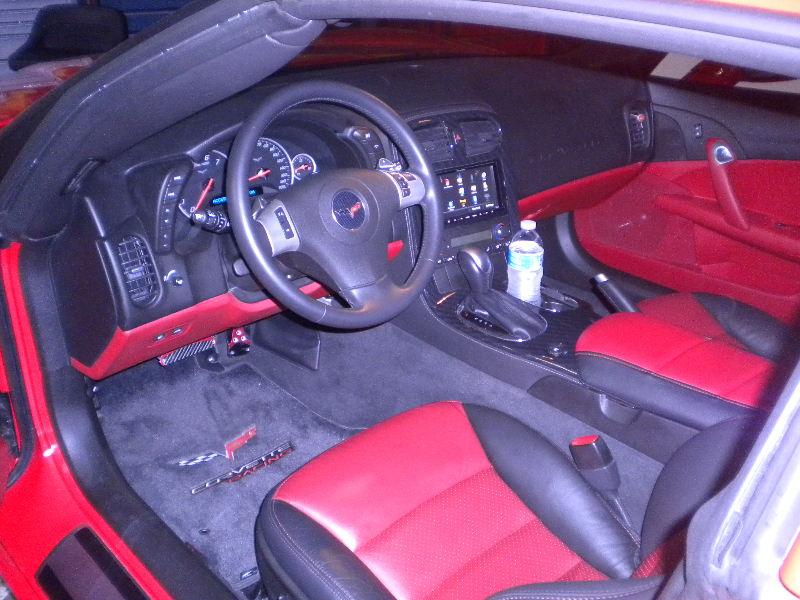 Red Corvette Interior