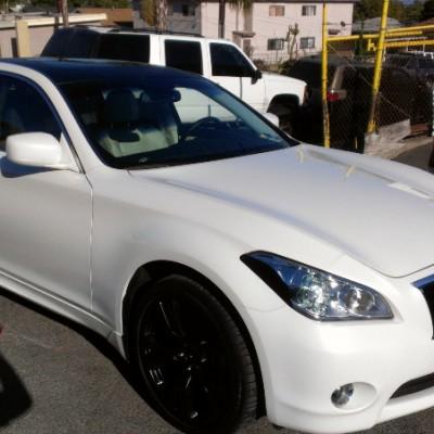White M37 black wheels