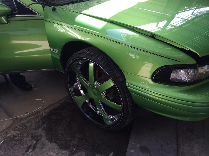Impala with green wheels