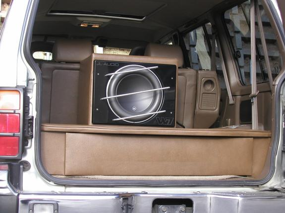 Montero with custom JL Audio system