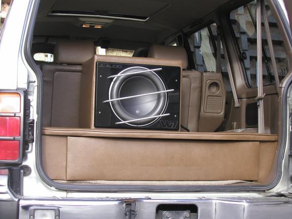 Montero with custom JL Audio system