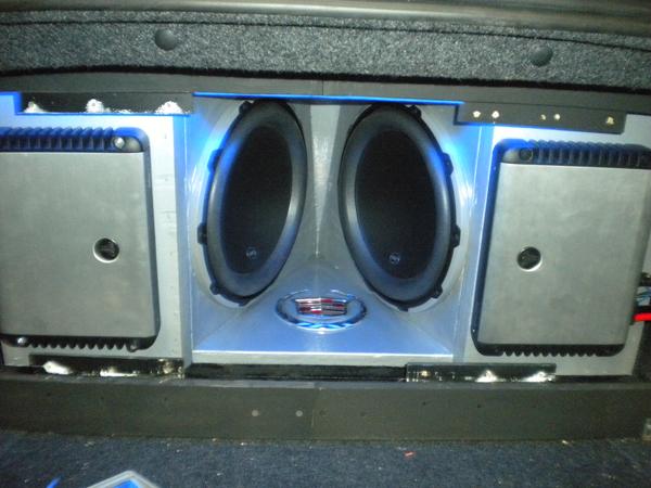 JL Audio System with Lights closeup