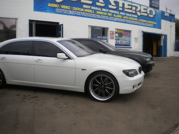 White BMW 5-Series Custom Wheels