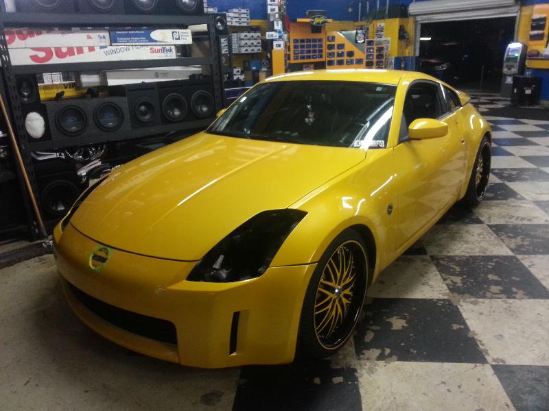 Yellow Nissan 350Z