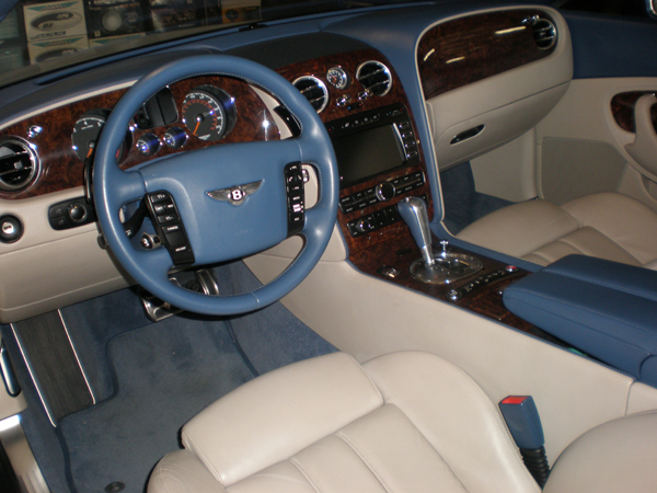 Bentley Continental Blue Interior