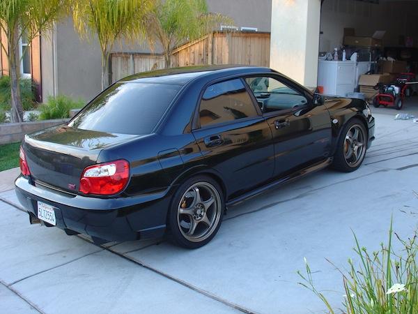 Black Subaru WRX Gunmetal Wheels