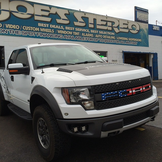 Ford Raptor Truck with American Flag Grill San Diego