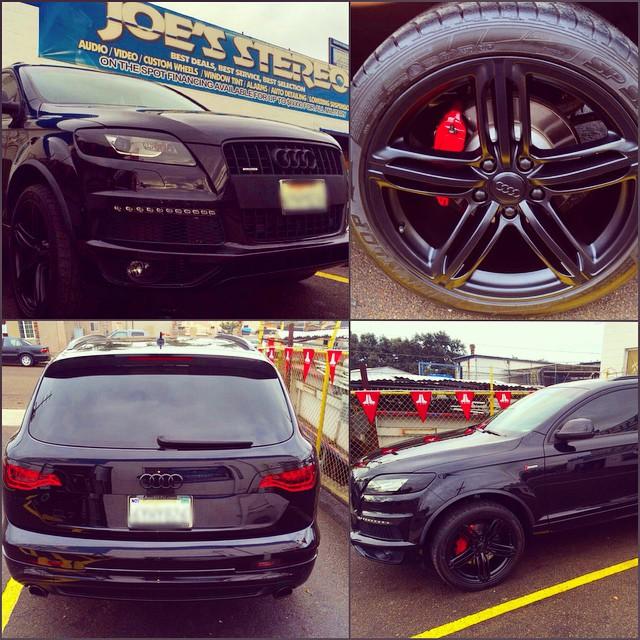 Custom Window Tint on Audi Q7 , Custom Wheels and Window Tint | Joe's Car Stereo San Diego