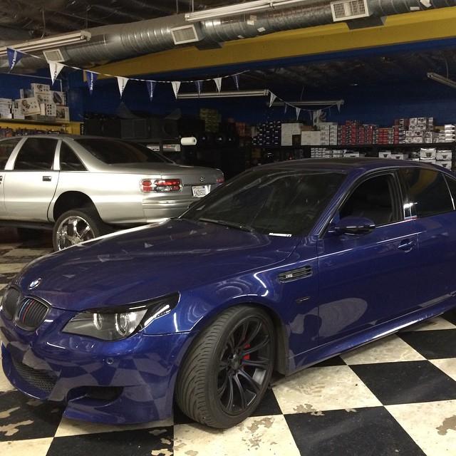 BMW M5 Series Custom Painted Wheels , Window Ting, Headlight Lids.