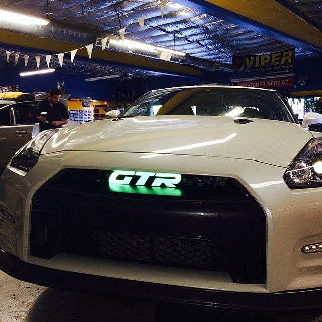 Nissan GTR LED Custom Lights with Glowing Emblem