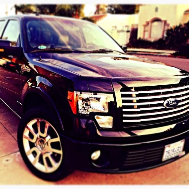 Ford Truck F150 Custom Headlights, Custom Wheels and Truck Tinted Windows