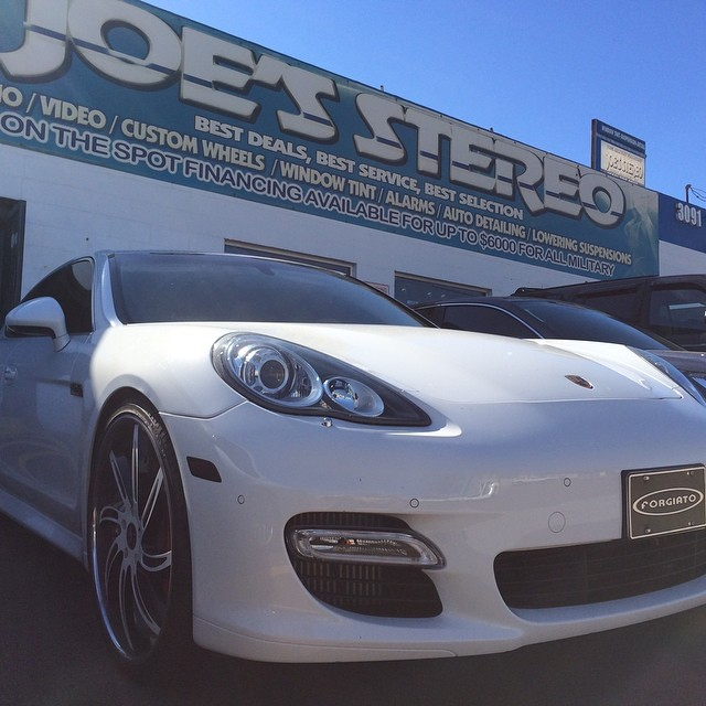 Porshe Panamera Window Tint and Custom Wheels