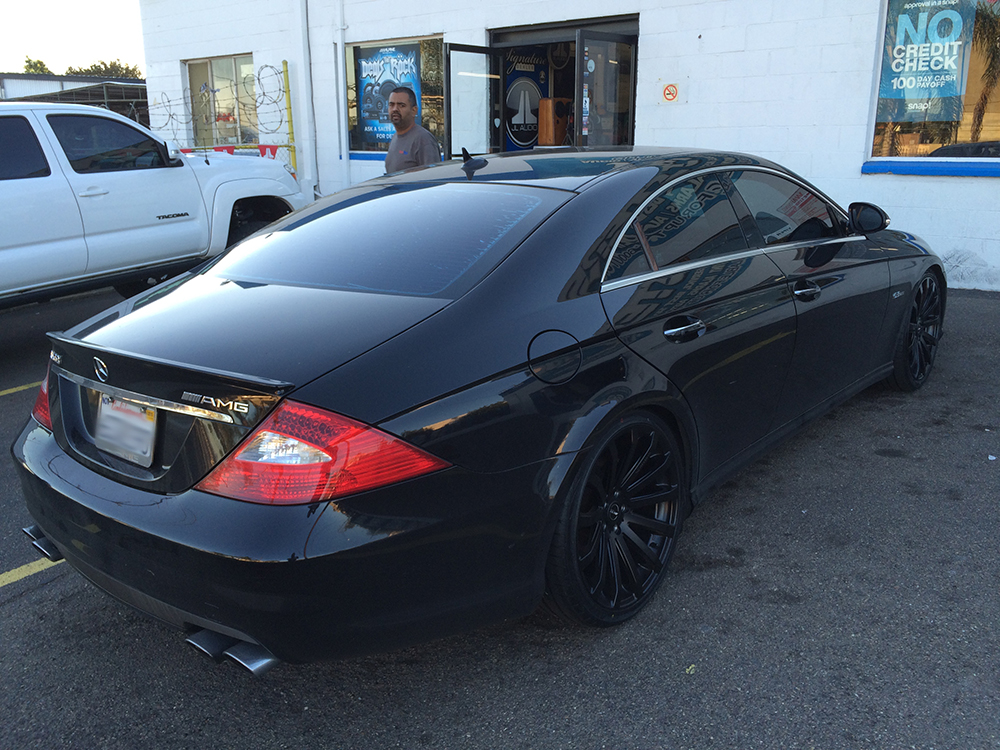 Mercedes Cls Amg With Black Mmr Wheels Joe S Stereo