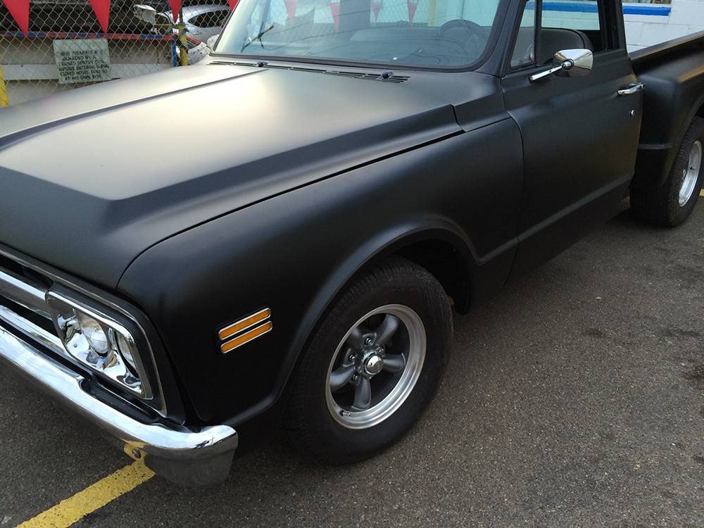flat black car paint Classic Chevy Truck with Flat Black Paint | Joe's Stereo flat black car paint
