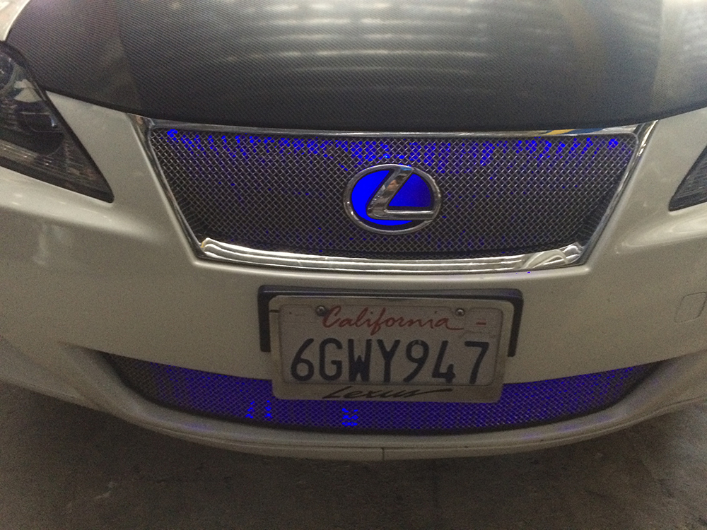 Blue Lexus Grille