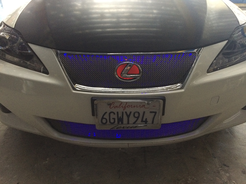 Red Blue Lexus Grille