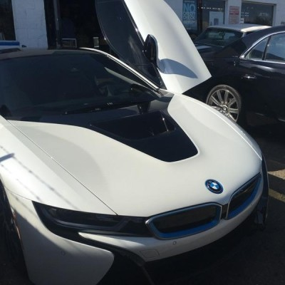 BMW i8 with doors up