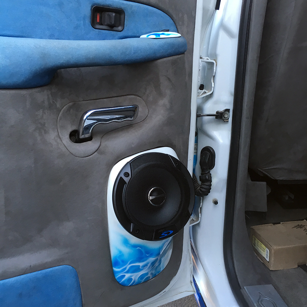 Alpine passenger door speakers