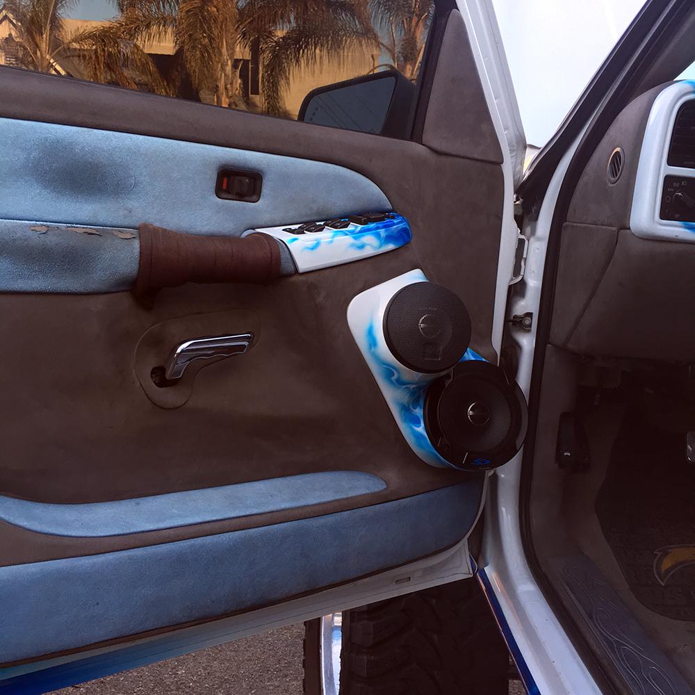 Alpine driver door speakers