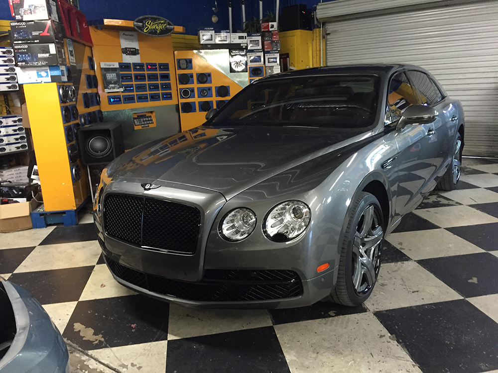 Bentley Flying Spur customized at Joe's Stereo in San Diego