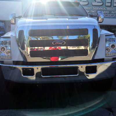 Ford F650 with custom lights