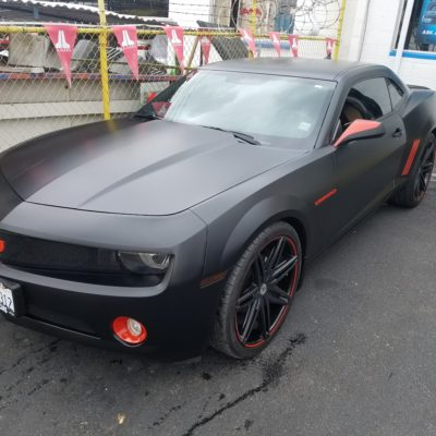 Chevy Camaro Matte Black