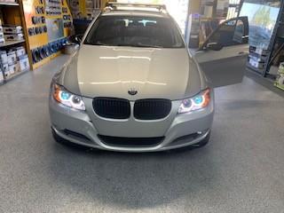 BMW halo lights